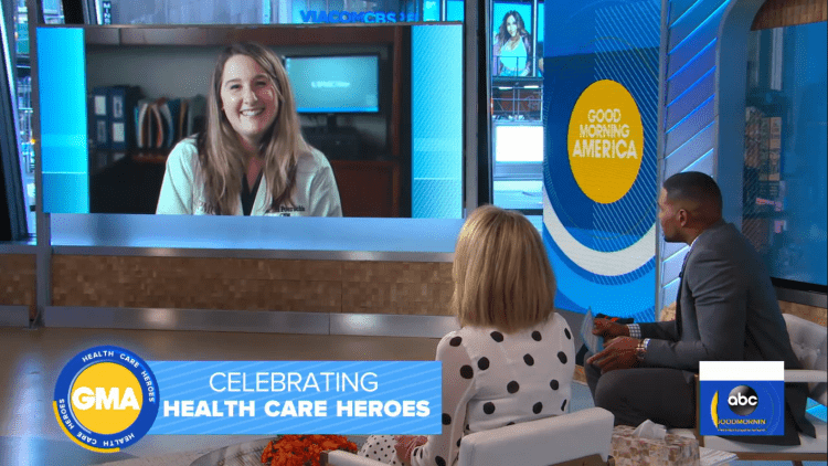 Magee-Womens Hospital midwife appears on GMA after her 'Lean on Me' performance goes viral