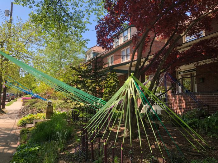 How one block in Squirrel Hill is using colorful ribbon art to bring cheer