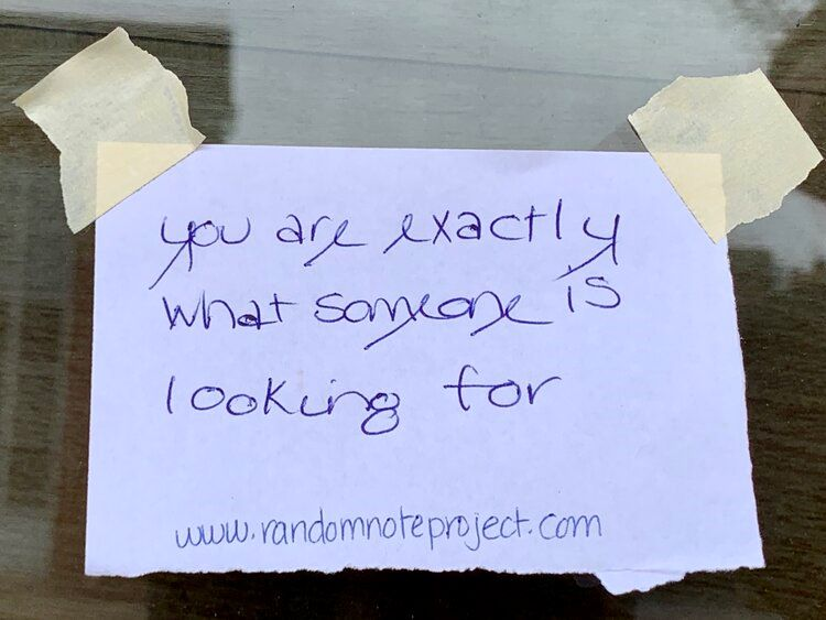 The Random Note Project offers hope through words of kindness