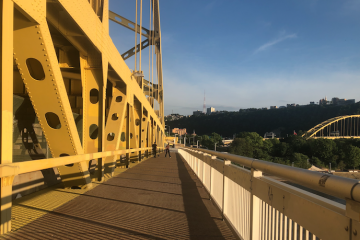 Downtown Pittsburgh bridge
