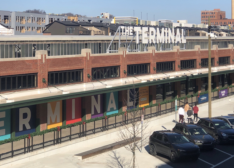 The Terminal debuts three passageways and holiday window displays. Liquor store opens Dec. 8