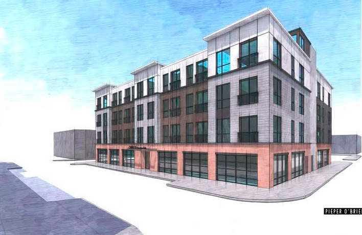 New building planned for Papa J's in Carnegie, along with 42 apartments