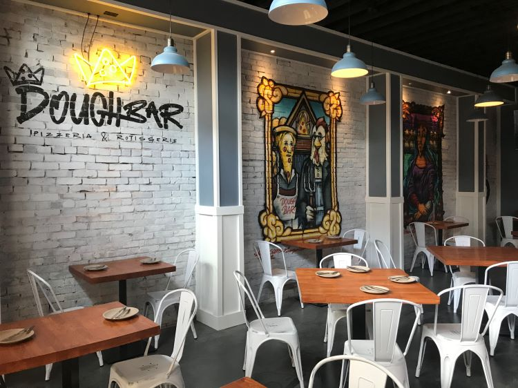 Updated: Doughbar Pizzeria & Rotisserie opens March 13 with eclectic menu and decor
