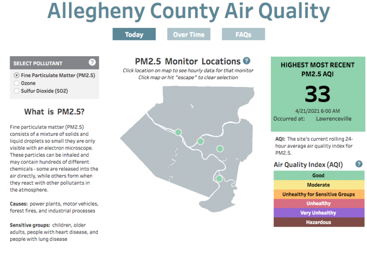 Health Department's new dashboard lets public monitor air quality in real time