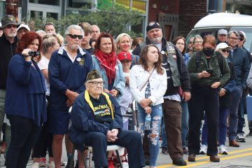 Veterans at Doughboy Monument